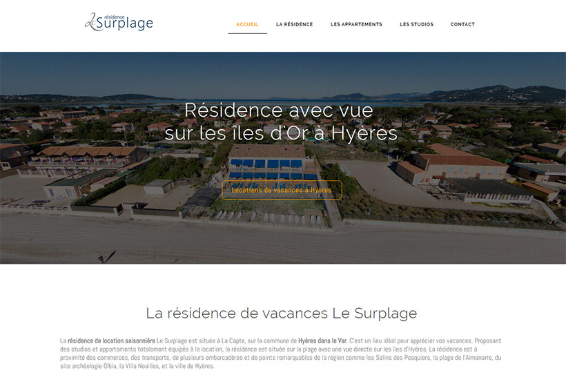 site internet Le Surplage